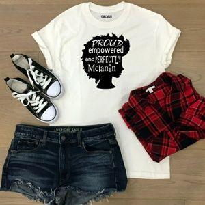 Tops - Afro Queen Melanin Poppin T Shirt